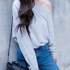 Free People Valencia off shoulder pullover
